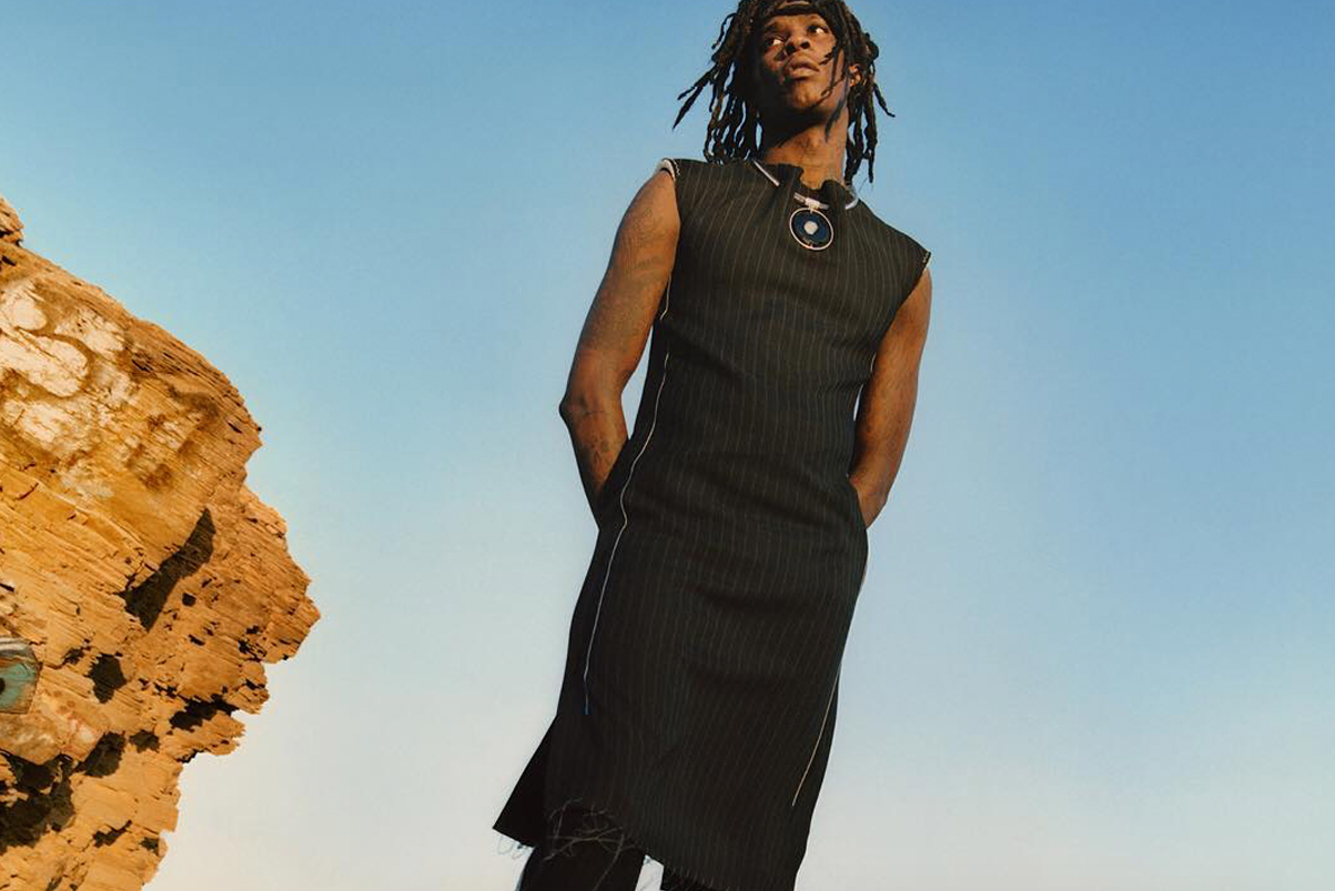 Young Thug Models Women's Clothing for Calvin Klein