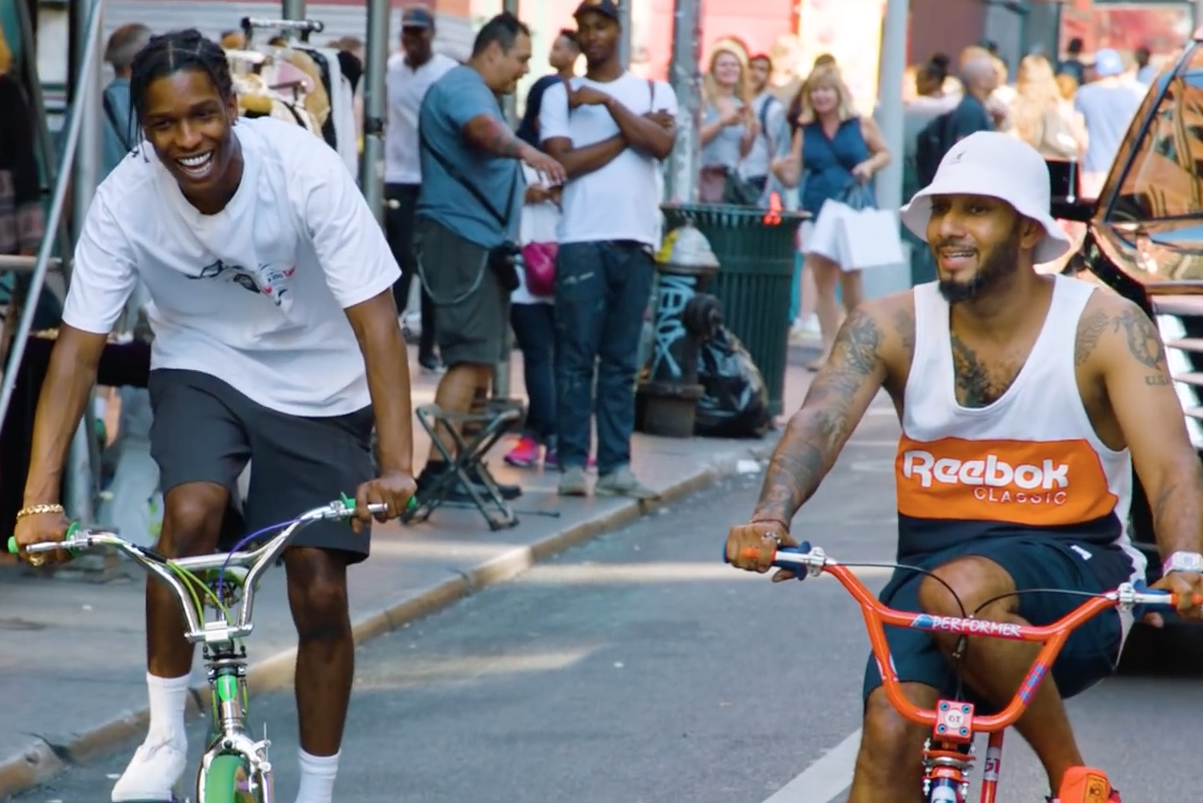 A$AP Rocky & Swizz Beats Ride BMXs Through The Bronx