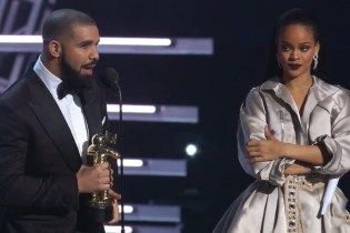 Watch Drake Present Rihanna the Video Vanguard Award at 2016 VMAs