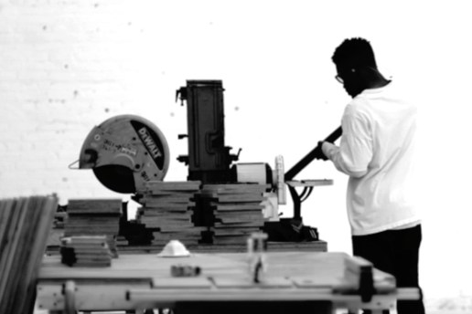 Frank Ocean is Working on a Chop Saw & Playing Background Music in His Live Stream