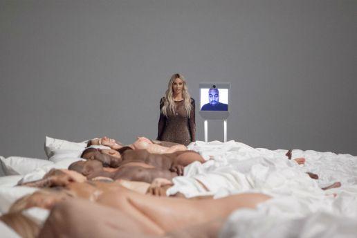 """Kanye West's """"Famous"""" Sculpture Is Now an Art Exhibit"""