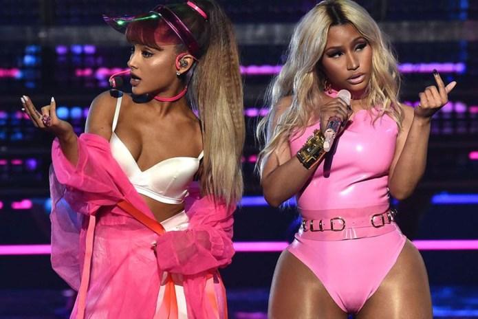 "Nicki Minaj & Ariana Grande Perform ""Side to Side"" at 2016 VMAs"