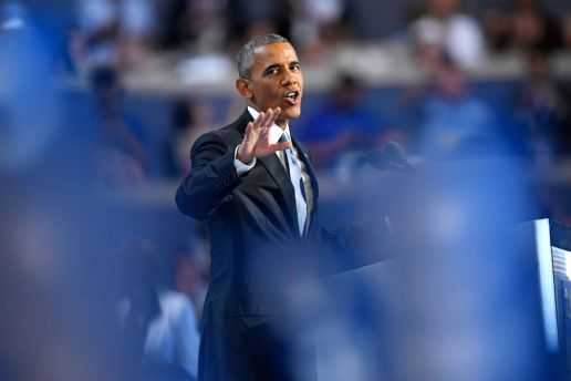 """Watch President Obama Listen to Eminem's """"Lose Yourself"""" Backstage at the DNC"""