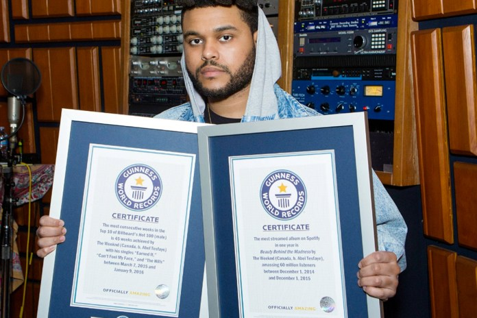 The Weeknd Lands Two Guinness World Records