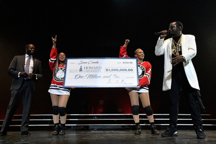 Puff Daddy Donates $1 Million to Howard University