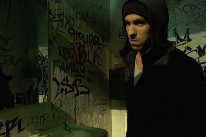 Michael Phelps Impersonates Eminem in 'Lip Sync Battle'