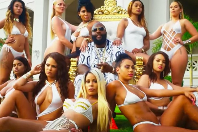 "Rick Ross Hits the Pool in ""Same H*es"" Music Video"
