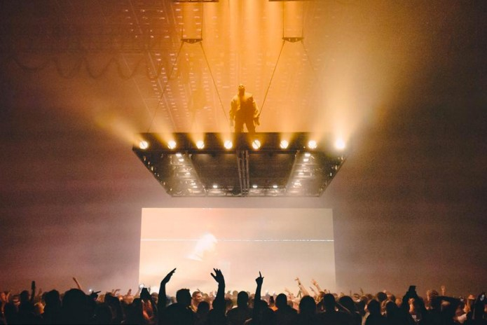Someone Attempted to Climb Kanye West's Floating Stage