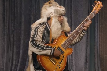 "Thundercat Has a ""Bass-Off"" With a Robot & a Half-Naked Man"