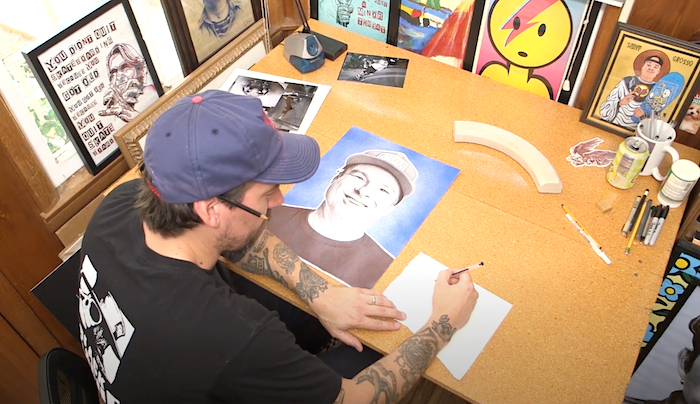 Watch Paul Kobriger Create His Photorealistic Jeff Grosso Piece For Vans