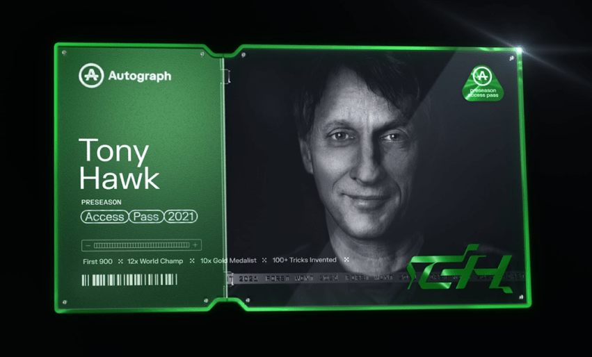 Tony Hawk Releases Limited Edition Autograph NFT Today