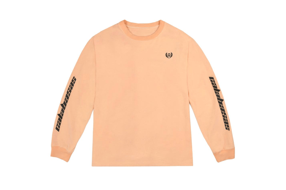 Kanye West Neon YEEZY Calabasas Just Dropped Longsleeve Neon Yellow Orange Sweater Yeezy Supply