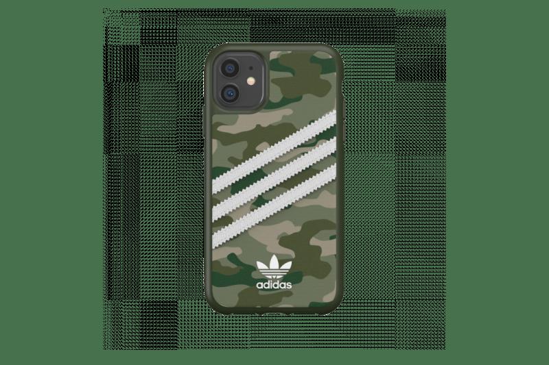 adidas Originals iPhone 11 Case 3-Stripes Camo Raw Green