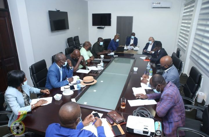 The GFA Executive Council meets Sports Minister Mustapha Yussif on Wednesday, April 7, 2021 call on Youth and Sports Minister Mustapha Yussif