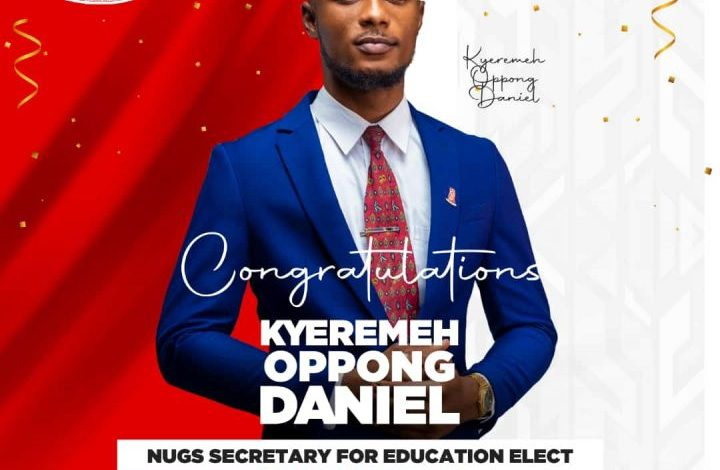 Kyeremeh Oppong Daniel Officially Declared As NUGS Secretary For Education Elect