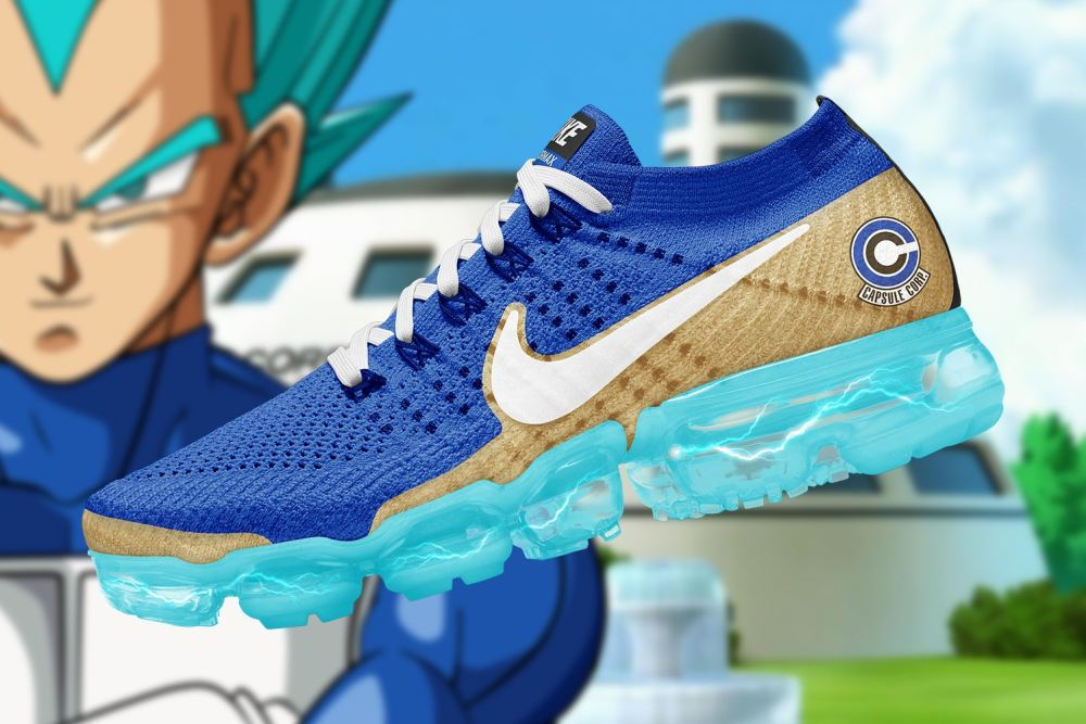 Checkout These Ultimate 'Dragon Ball Super' x Nike Air VaporMax Collaboration [SneakPeak] dragon ball super nike air vapormax renders 4