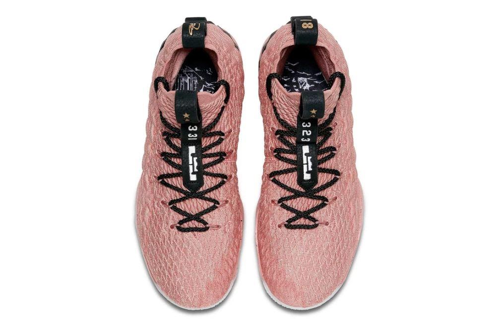 Nike LeBron 15 'Metallic Pink & Gold' [SneakPeak] nike lebron 15 all star release 4