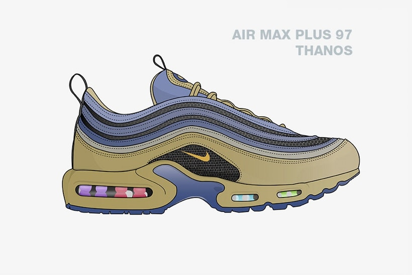 Checkout These Illustrated Avengers x Nike Collabs [SneakPeak] nike marvel superhero sneaker concepts 5