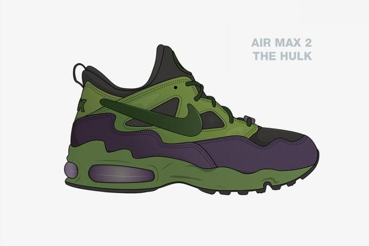 Checkout These Illustrated Avengers x Nike Collabs [SneakPeak] nike marvel superhero sneaker concepts 6