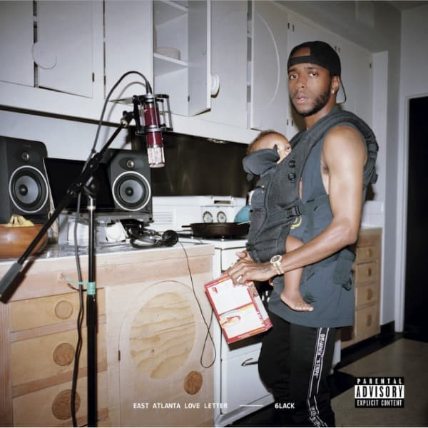 6LACK's New 'East Atlanta Love Letter' Album Will Feature Offset, Future, J. Cole, & More 6lack east atlanta love letter cover