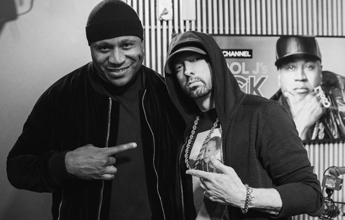 eminem Listen To Eminem Talk Meeting Dr Dre & More With LL Cool J ll cool j eminem interview 680x433