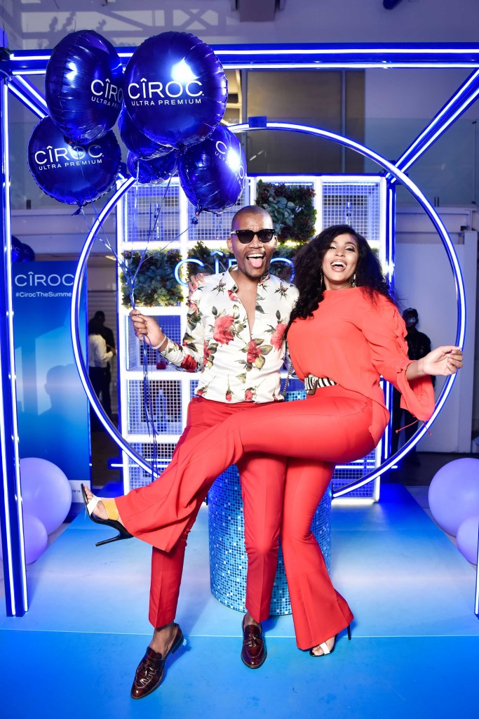 CÎROC Introduces New Red Berry Flavour In Style Linda Mtoba and Mandla Mngomezulu 683x1024