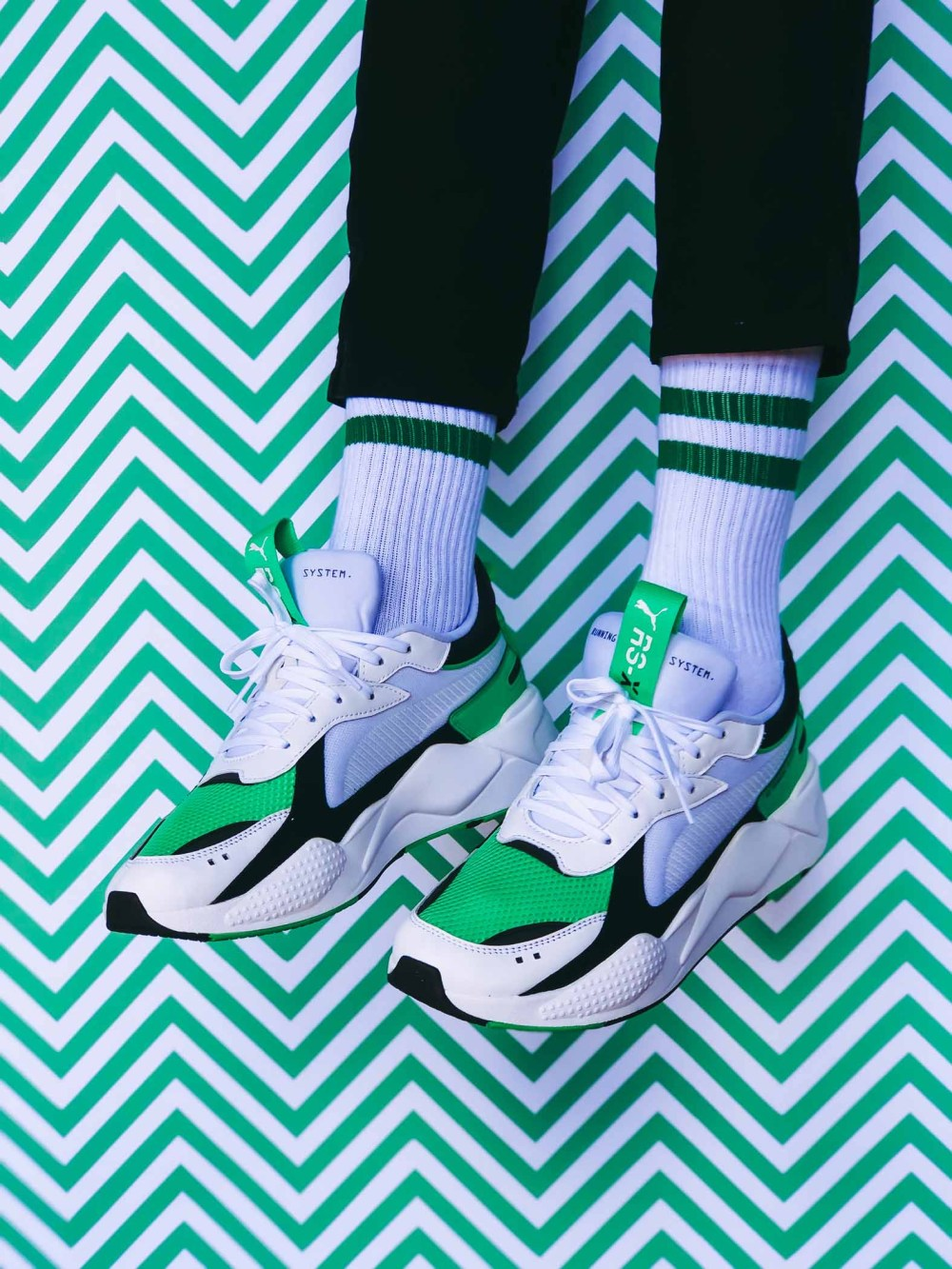 puma rs-x reinvention PUMA RS-X Reinvention Drop In Green & White PUMA RS X Reinvention image by YoMzansi 2 lo