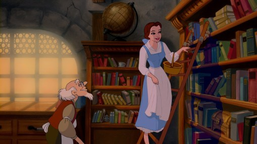 Image result for the beauty and the beast belle library