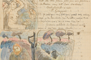 A detail of a letter from Paul Gauguin to Vincent van Gogh. November 10-13, 1889. via the van Gogh Museum