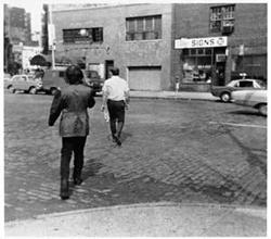 Vito Acconci, Following Piece, (1969) photo © Vito Acconci