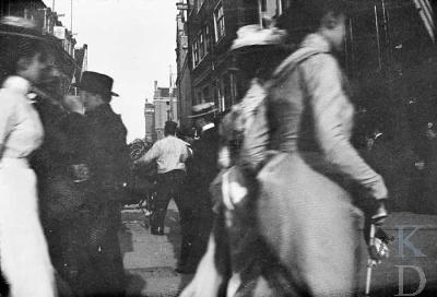 """George Hendrik Breitner, """"Spui and walkers in the Kalverstraat"""""""