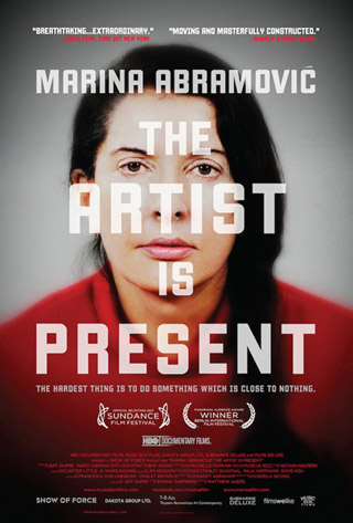 """Poster for the film """"Marina Abramović: The Artist Is Present"""""""