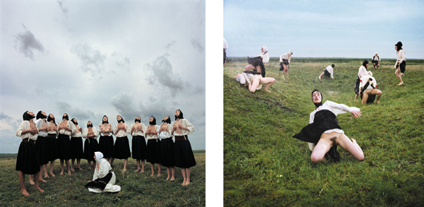 "Marina Abramović, ""Women in the Rain (I and II)"""