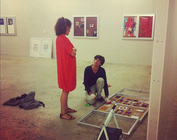 Antoine Catala and Gallery Director Artemis Baltoyanni