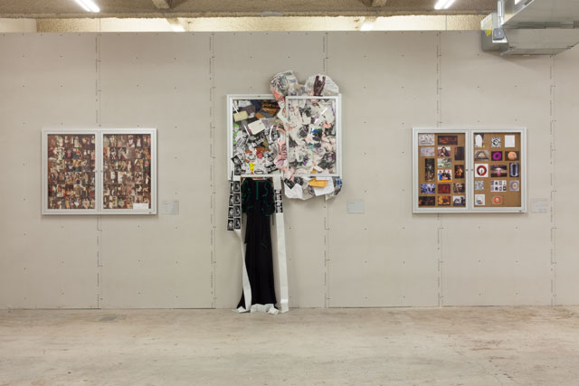 """Installation view of """"Bulletin Boards"""""""