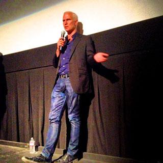 Klaus Biesenbach speaking at Film Forum