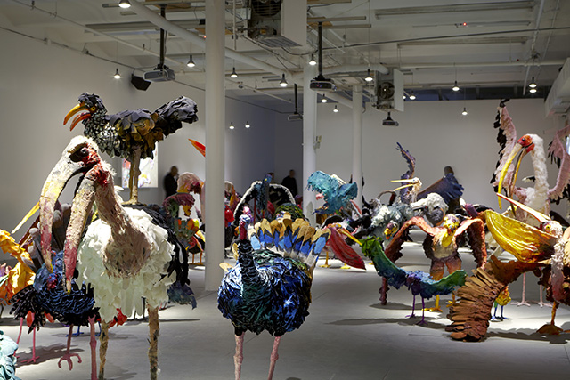 "Installation view, Nathalie Djurberg, ""The Parade"""