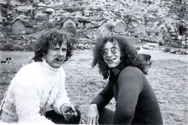 Gordon Matta-Clark with Jeffrey Lew, circa 1971
