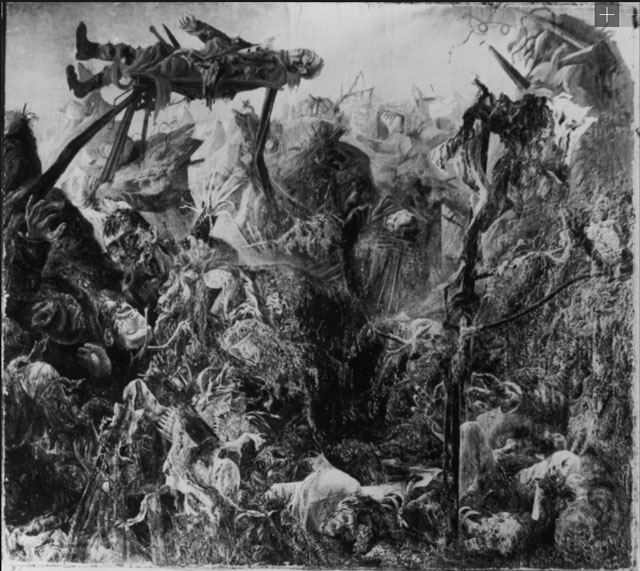 """A photograph of Otto Dix's """"The Trench"""" (1920–23)"""