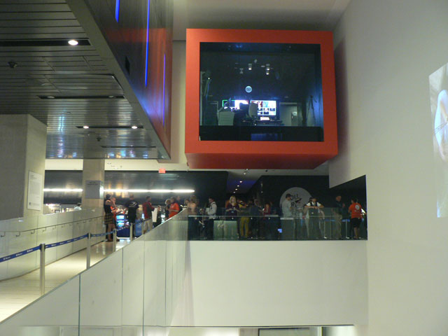 Crowds waiting to enter a screening on the second floor of the TIFF Bell Lightbox