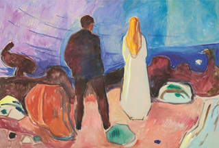 """Edvard Munch, """"Two Human Beings: The Lonely Ones"""" (1933-35) (image via London Review of Books)"""