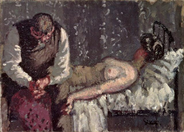 """Walter Sickert, """"The Camden Town Murder or What Shall We Do about the Rent?"""" (c. 1908) (image via Tate)"""