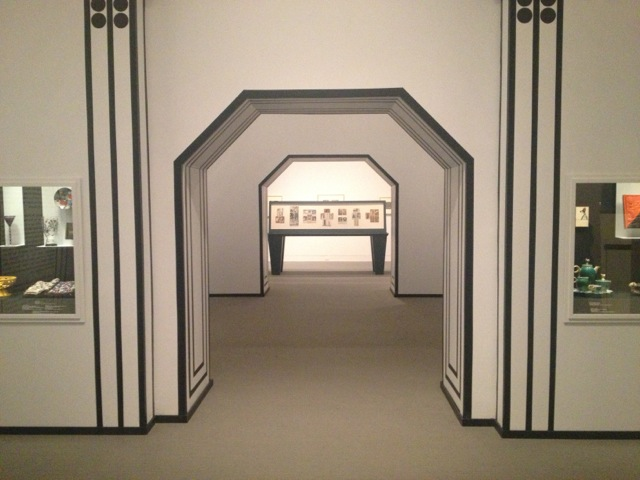 """Installation view of """"Postcards of the Wiener Werkstatte"""" (All photos by author)"""