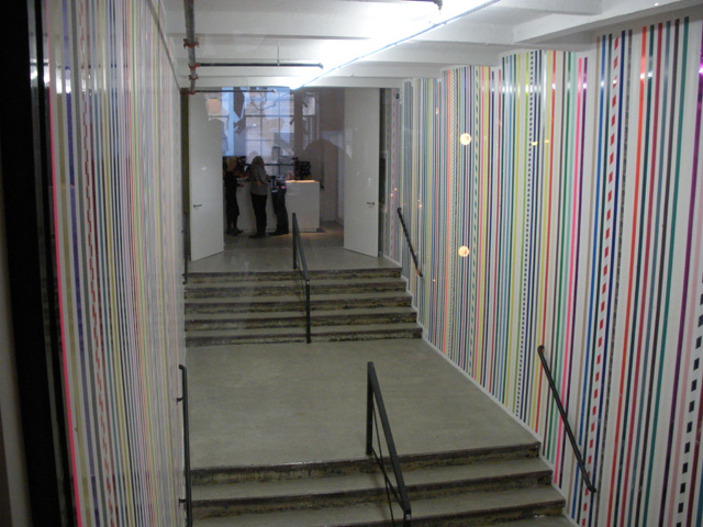 A view of Martin Creed's permanent installation from inside the Roths' bar