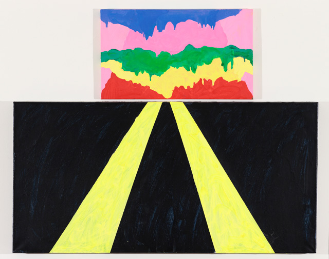 """Mary Heilmann, """"Surprise"""" (2012). Oil on canvas, 37.75 x 47.5 inches"""