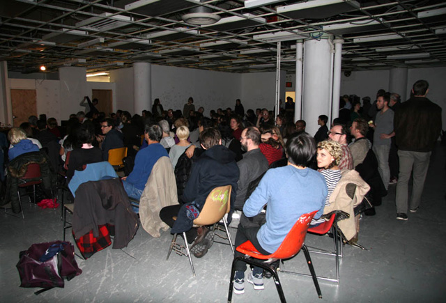 The crowd at the Hunter College event