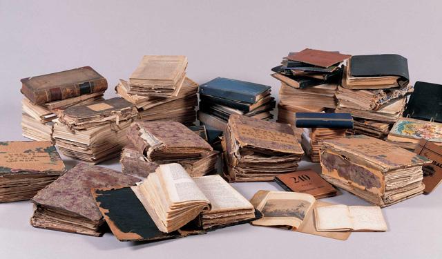 Darger's writings (image via American Folk Art Museum)