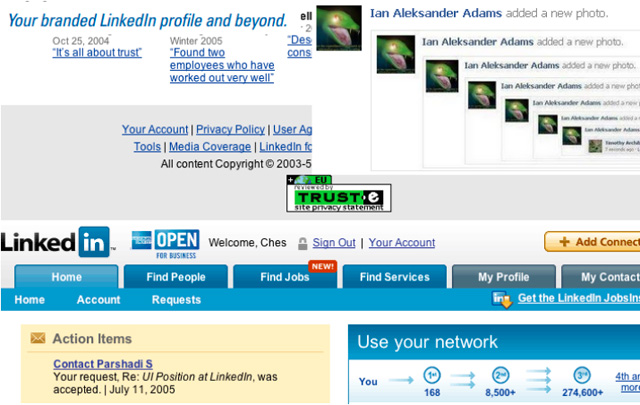 "Screen shot of ""Friendster Friday"" by Ian Aleksander Adams"