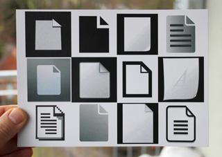 "The postcard for Aram Bartholl's ""Offline Art"" show"