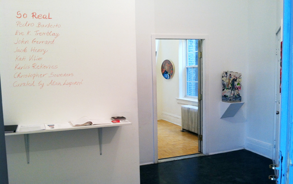 So Real (installation shot) @ Radiator Arts (Photo courtesy of Hyperallergic staff)